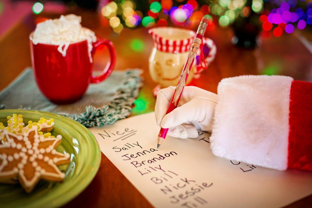 christmas food and santa