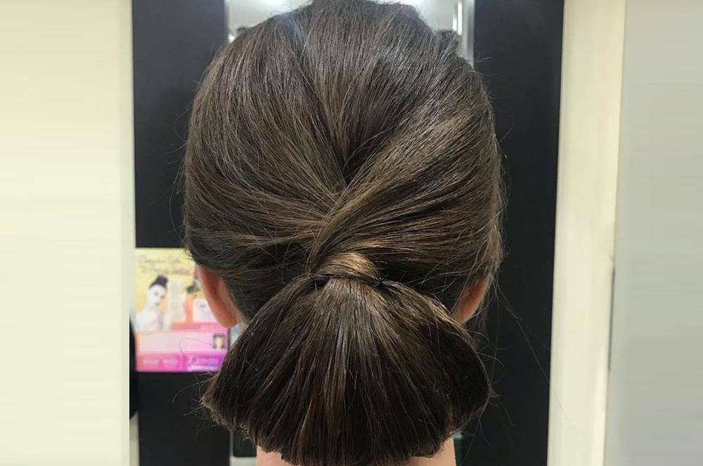 horizontal bun