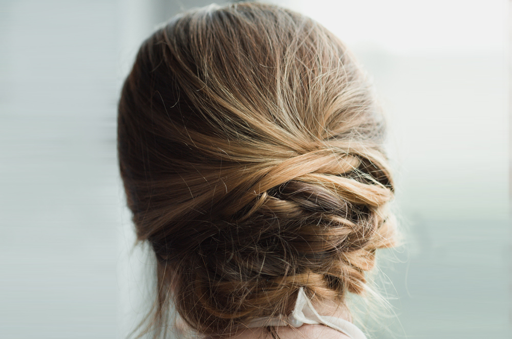 Low Pin Rolls Look Bun Hairstyle