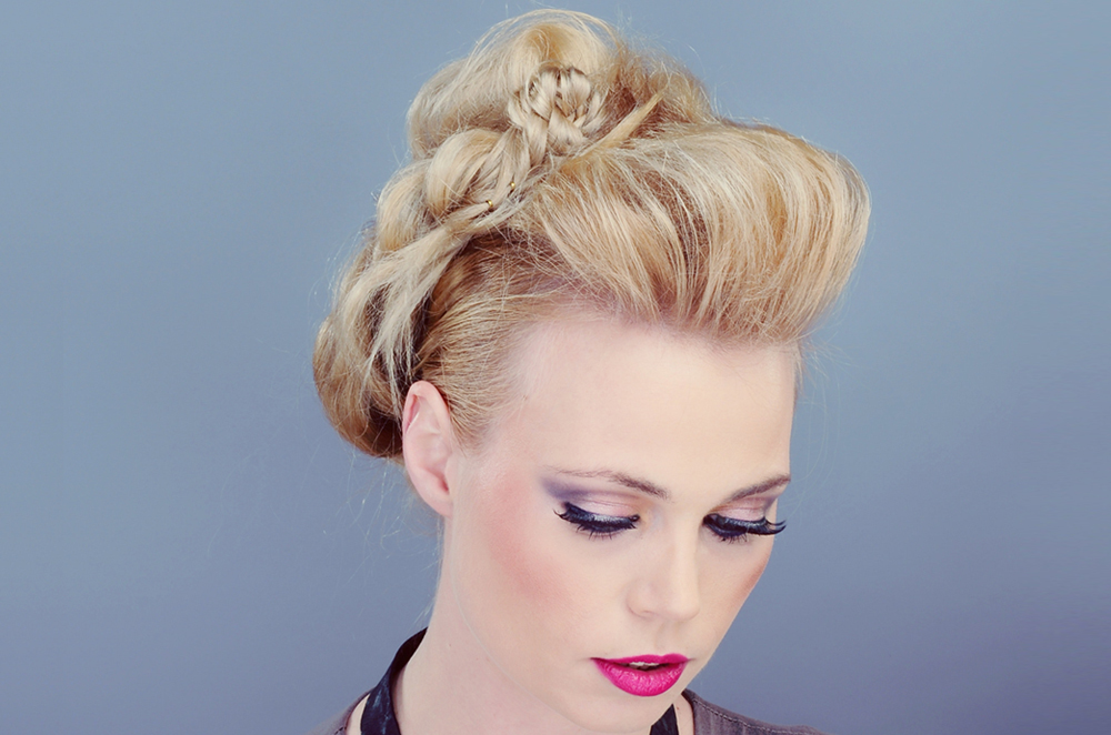 Messy Braids and Wrap Style Bun Hairstyle