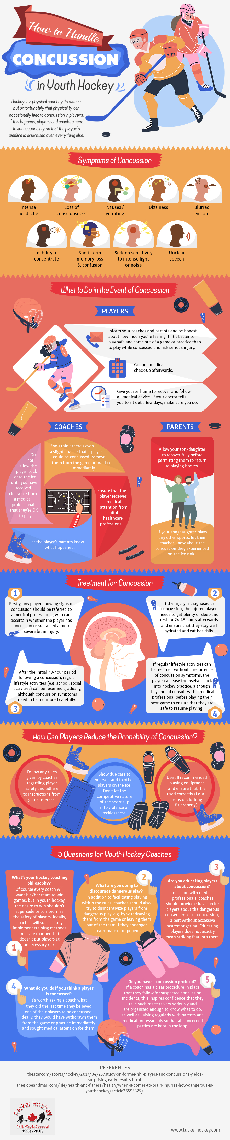 Hockey Concussion Infographic